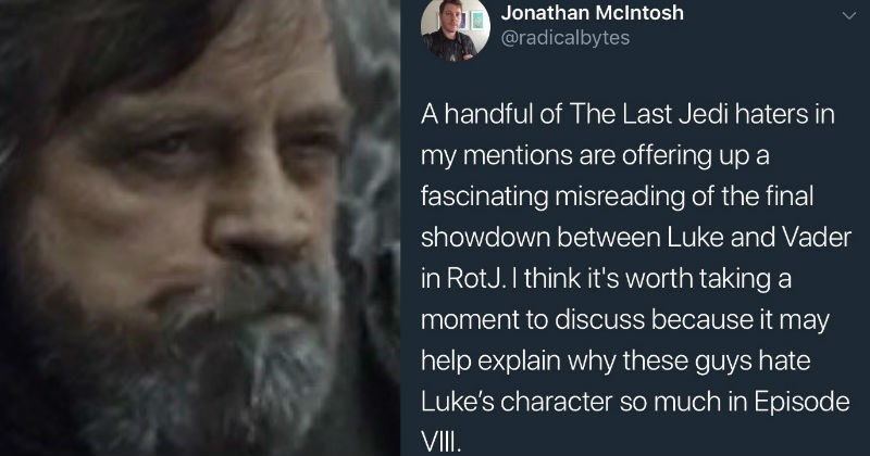 star wars the force luke skywalker tweets story the last jedi - 6213381