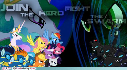 awesome changelings epic finale mane six the internets - 6213395200