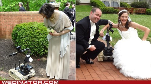 bomb disposal,funny wedding videos,ring bearer,robots