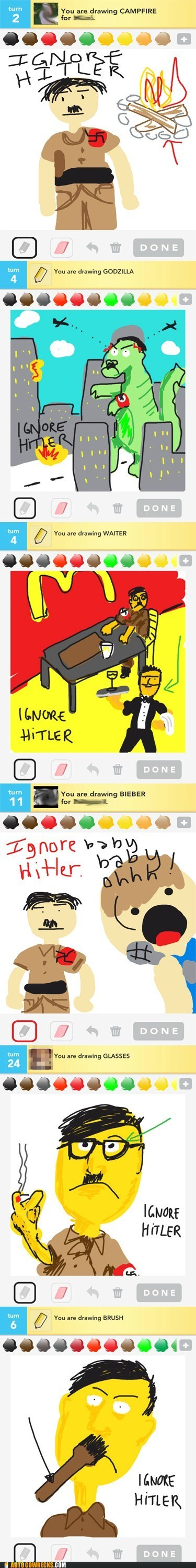 AutocoWrecks draw something german fascist dictators ignore hitler