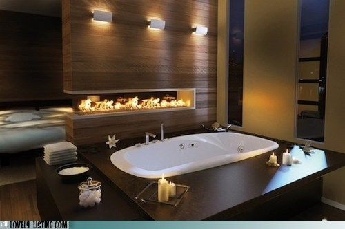 bathroom fireblace tub - 6213490688
