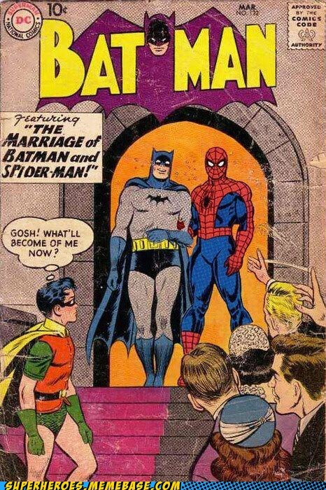 batman,marriage,robin,Spider-Man,Straight off the Page