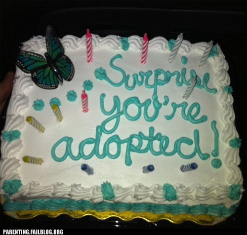 cake surprise youre-adopted - 6213541888