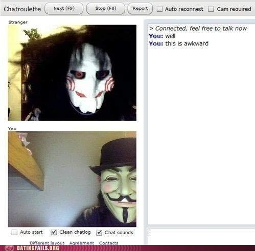 anonymouse Chat Roulette jigsaw masks