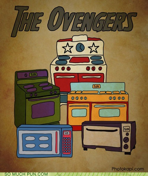 avengers,comic,Hall of Fame,literalism,marvel,oven,prefix,similar sounding,The Avengers