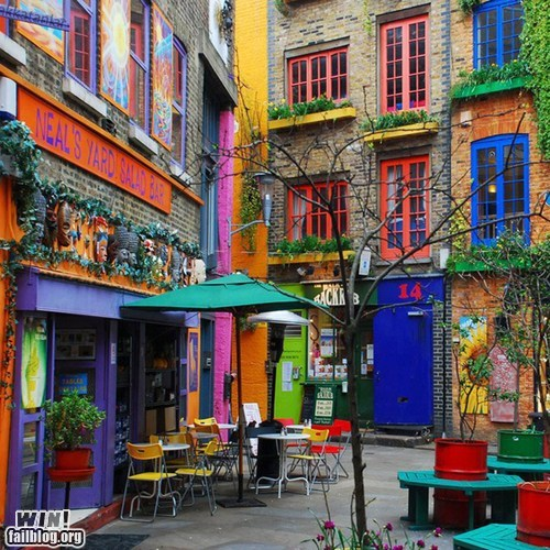cafe decoration design pretty colors street