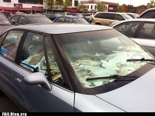 messy car papers trash - 6213837056