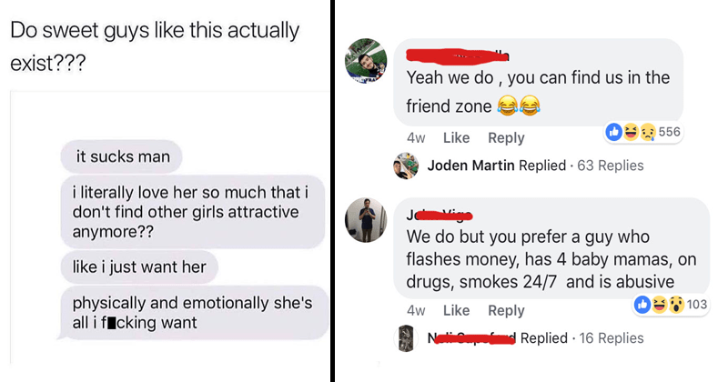 Cringey facebook comments from neckbeards.