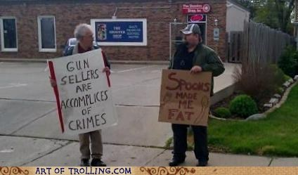 gun,IRL,sign,spoon