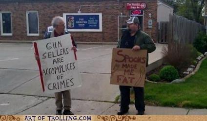 gun IRL sign spoon - 6214042624