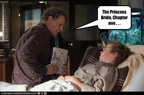 chapter one,Fringe,John Noble,kid,reading,sick,the princess bride,Walter Bishop