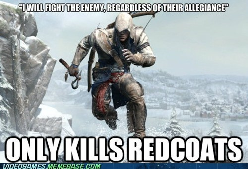 assassins creed meme redcoats scumbag