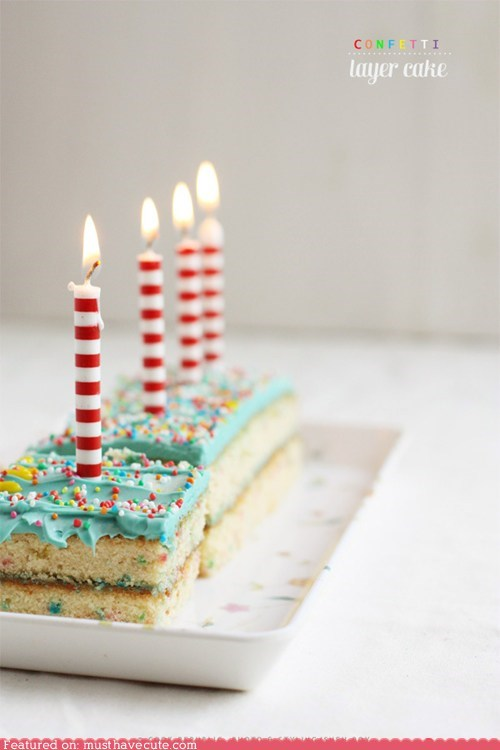 blue cake candles confetti epicute frosting - 6214187008