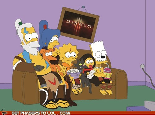 anticipation,best of the week,diablo III,Fan Art,homer simpson,the simpsons,the wizard,waiting