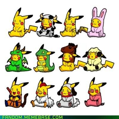cute dress up Fan Art pikachu Pokémon - 6214228992