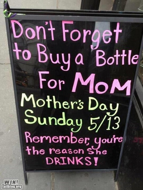 bar drinking mothers day sign true facts - 6214323712