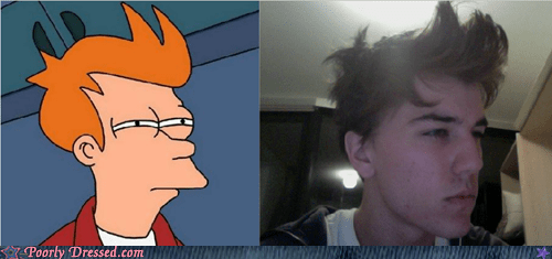 fry Futurama Fry haircut meme not sure if stylish