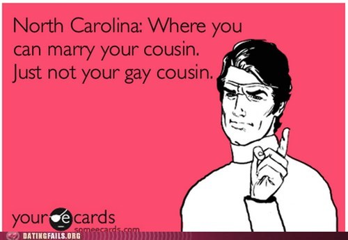 gay marriage,marrying your cousin,North Carolina