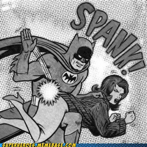 batman spanking Straight off the Page wtf