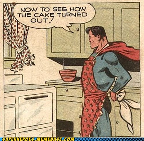 baking cake cooking Straight off the Page superman