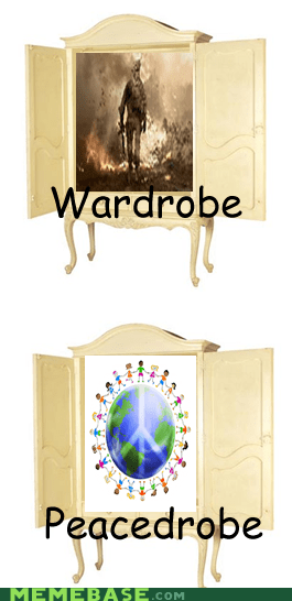 How People View Me narnia peace puns war wardrobe - 6214413568