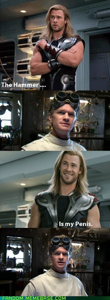 crossover,doctor horrible,It Came From the Interwebz,p3n0r,the hammer,Thor