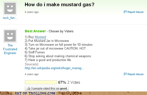 fumes hot mustard gas Yahoo Answer Fails - 6214624512