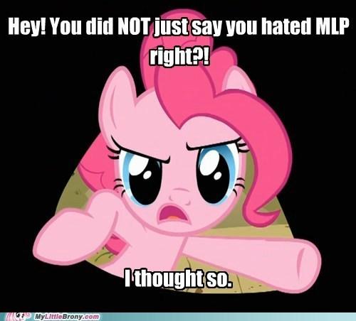 fourth wall meme my little pony pinkie pie - 6214729728