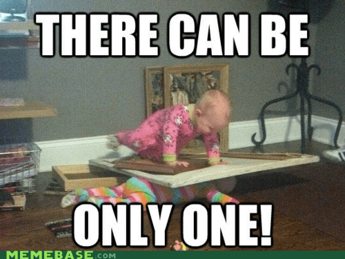 baby crawl highlander Memes only one - 6214788864