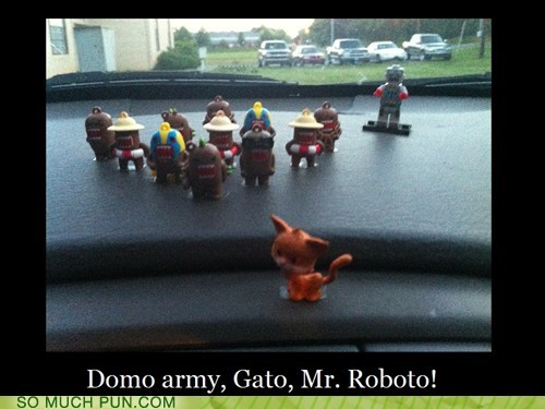 army,domo,domo arigato,gato,literalism,mr roboto,similar sounding,song,styx