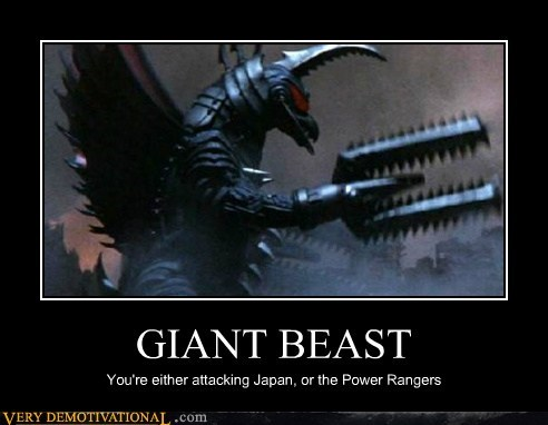 giant beast,hilarious,Japan,power rangers