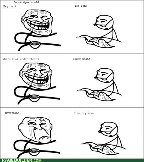 trolling,troll dad,underwear