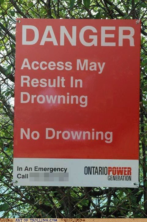 danger drowning IRL sign - 6215880448
