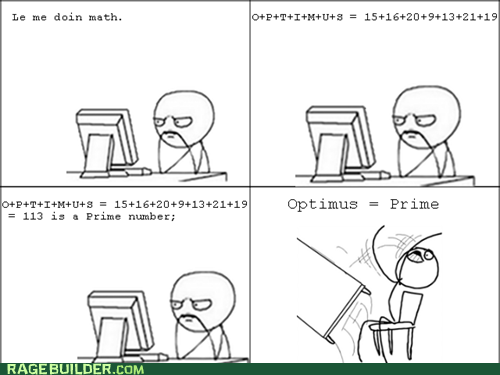 math optimus prime Rage Comics table flip truancy story - 6216107008