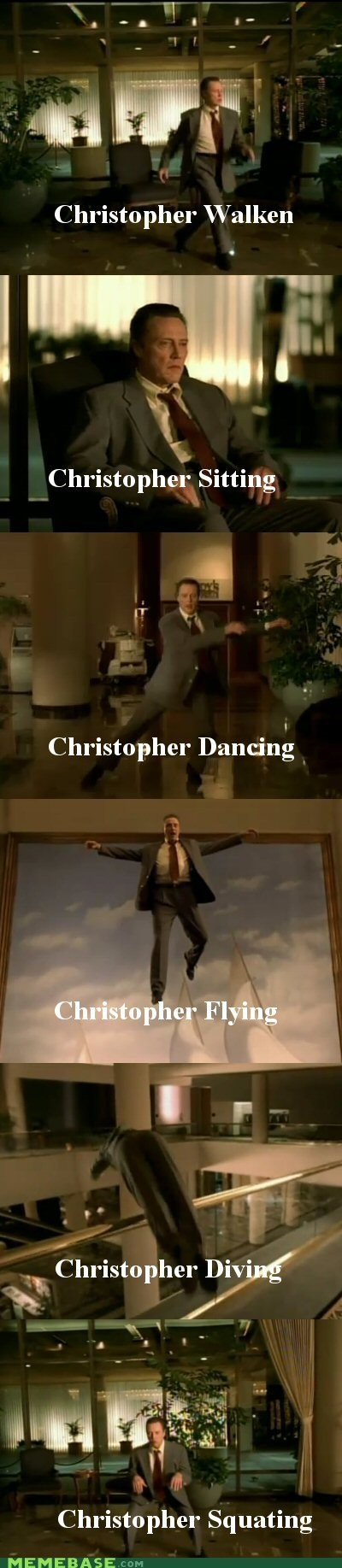 christopher walken,music video,pun,the internets