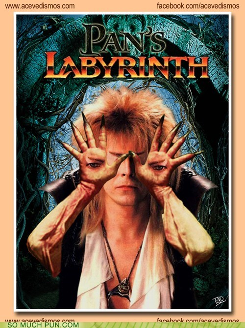 david bowie,Hall of Fame,juxtaposition,labyrinth,literalism,mashup,pans-labyrinth