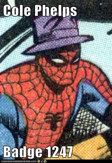 cole phelps,hat,LA Noire,Spider-Man,Super-Lols