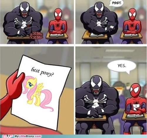 comic comics fluttershy Spider-Man superheroes Venom - 6216604160