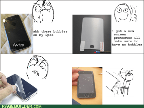 bubbles,Rage Comics,screen protector,table flip
