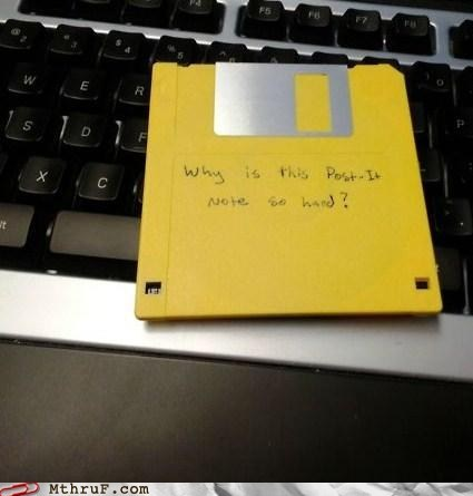coaster,drink coaster,floppy disk,g rated,Hall of Fame,monday thru friday,post-it note