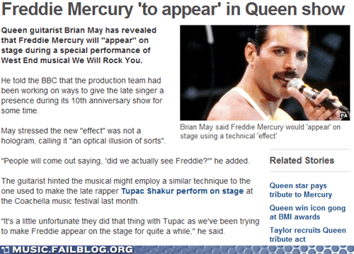 freddie mercury hologram news queen