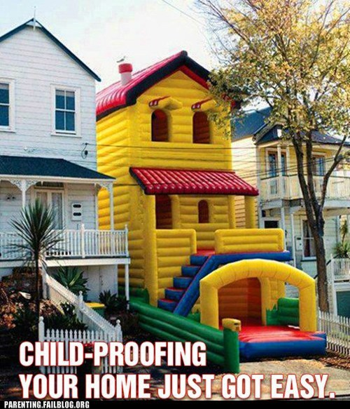 Balloons Bounce House child proofing house