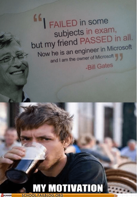 Bill Gates microsoft my motivation passing college