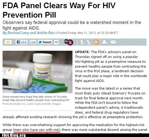fail nation FDA g rated hiv news prevention pill