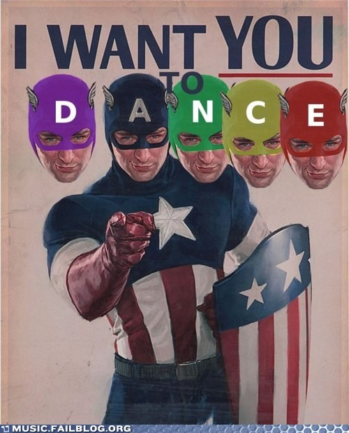 avengers,captain america,dance,The Avengers