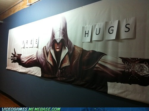 assassins creed,Free Hugs,hidden blade,IRL,Ubisoft