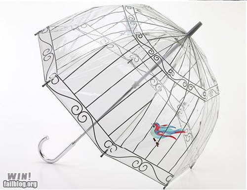 animal bird bird cage design umbrella - 6217166080