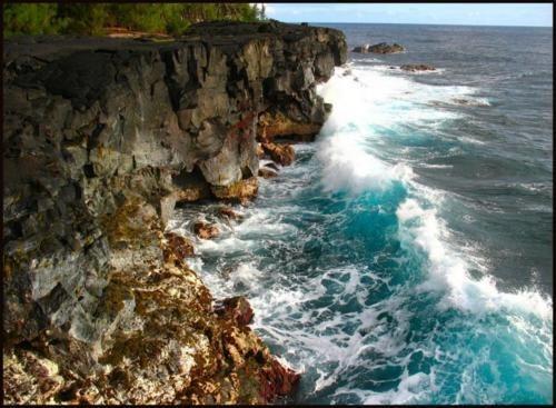 cliff ocean rocks waves - 6217319936