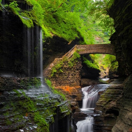 bridge,Hall of Fame,new york,rocks,waterfall
