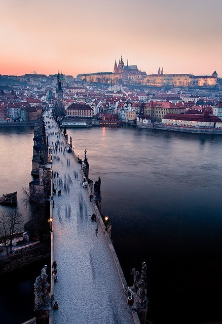 architecture,bridge,city,czech republic